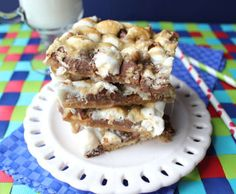 Easy Caramel Smore Bars