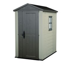 Factor 4X6 Outdoor Storage Shed, Brown