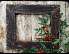 Rustic Decor 11x14 Reclaimed Picture Frame, Dark Walnut  Wash, Handmade, Rustic Wall Decor, Country Home Decor, Distressed, MenasRusticDecor