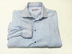 Robert Graham L/XL Men's Blue Stripe Long Sleeve Cotton Button Front Shirt #RobertGraham #ButtonFront