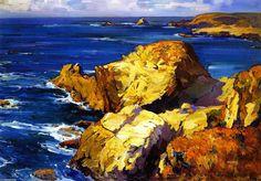 'Rocks along the Coast', Oil On Canvas by Franz Bischoff (1864-1929, Austria)