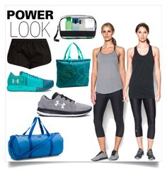"""The Power Look"" by bonnielindsay ❤ liked on Polyvore featuring Under Armour, Three Graces and polyvoreeditorial"