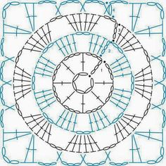Granny Square patterns - Simply Crochet Learn to Crochet – Crochet Wave Fan Edging. How I made this wave fan edging border stitch. Crochet Squares, Point Granny Au Crochet, Crochet Motifs, Granny Square Crochet Pattern, Crochet Blocks, Crochet Diagram, Crochet Chart, Crochet Stitches, Crochet Patterns
