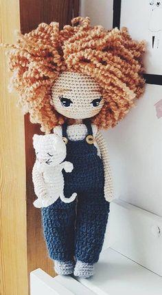 Beautiful Amigurumi Doll Crochet Pattern Ideas and Images Part amigurumi . - Bebek - Beautiful Amigurumi Doll Crochet Pattern Ideas and Images Part amigurumi free patterns; Crochet Dolls Free Patterns, Crochet Doll Pattern, Amigurumi Patterns, Amigurumi Doll, Crochet Designs, Crochet Toys, Knitted Dolls, Free Crochet, Easy Knitting Projects