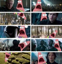 *Me watching the Mockingjay teaser* GALE'S EYES THO