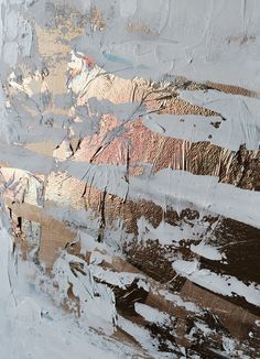 """Detail of """"Fire and Ice"""" abstract piece by Lindsey Homra Siroky"""