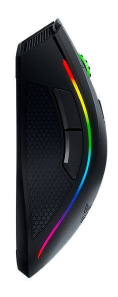 The versatile Razer Mamba gaming mouse offers unparalleled features and customization options, including adjustable click feedback, 16.8 million lighting colors, 10 programmable buttons, and wired or wireless operation.