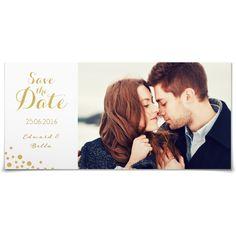 Save the Date Schätzelein Gold in Weiss - Postkarte lang #Hochzeit #Hochzeitskarten #SaveTheDate #elegant #Foto https://www.goldbek.de/hochzeit/hochzeitskarten/save-the-date/save-the-date-schaetzelein-gold?color=weiss&design=91867&utm_campaign=autoproducts