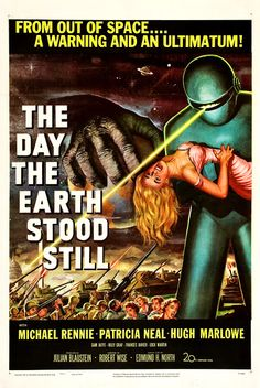 old sci-fi movie posters   23. The Day the Earth Stood Still