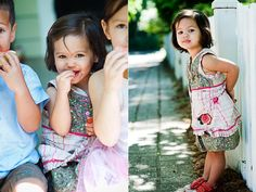so cute! great idea to have watermelon or strawberries for kids to have during photoshoot