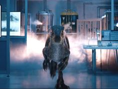 Here is a cropped shot of Blue from Jurassic World Fallen Kingdom. Blue is running from an impending explosion from leaking hydrogen. Jurassic World Fallen Kingdom-Blue 7 New Jurassic Park, Jurassic Park Raptor, Jurassic Park Poster, Blue Jurassic World, Jurassic Park Trilogy, Jurassic Park Party, Jurassic World Fallen Kingdom, Tyrannosaurus, Jurrassic Park