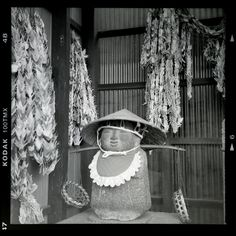 Very old photo of very old Jizo