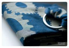 GEARS INDIGO/YELLOW with merino wool by NATIBABY <3<3<3