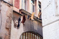 It pays to look up in the Old Town of Split, Croatia. You never know what you may see!   heneedsfood.com