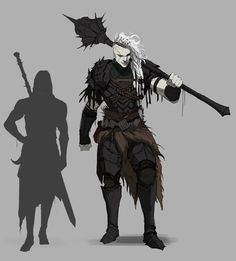 This picture makes me want to create a shadar-kai barbarian or conquest paladin 🙈 why not both with a multiclass? Fantasy Character Design, Character Creation, Character Design Inspiration, Character Concept, Character Art, Concept Art, Dungeons And Dragons Characters, Dnd Characters, Fantasy Characters