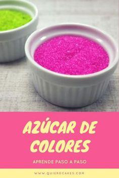 Cómo hacer azúcar de colores paso a paso
