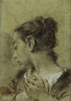 Girl in Contemplation - Giovanni Battista Piazzetta - circa 1730-1754