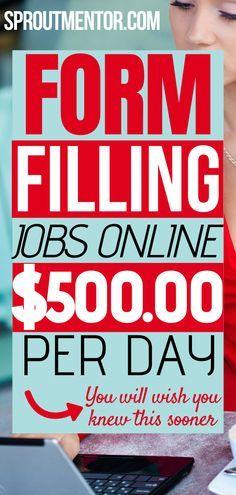 Earn Money From Home, Earn Money Online, Way To Make Money, Online Jobs From Home, Work From Home Jobs, Typing Jobs From Home, Online Work, Experiment, New Job Vacancies