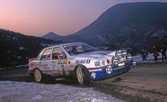 """Massimo """"Miki"""" Biasion - Tiziano Siviero 60th Rallye Automobile de Montecarlo 1992 (Ford Sierra Cosworth 4x4)"""