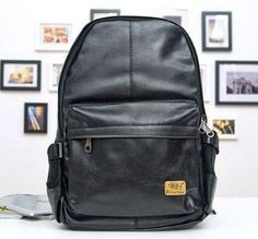 Premium-Quality Simple Design Large-Capacity PU Leather Backpack 3 Colors
