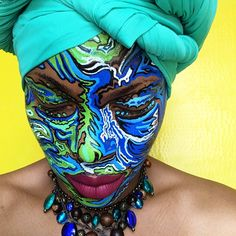 Posca & Me (X-post from r/unconventionalmakeup) #makeup #beauty