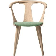 & Tradition In Between Chair SK2 - White Oiled Oak (830 AUD) ❤ liked on Polyvore featuring home, furniture, chairs, accent chairs, furnish, room, sitting, green, traditional accent chairs y green chair