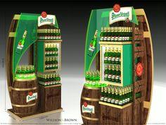 Pisner Urquell Beer POP Pos Display, Bottle Display, Display Design, Store Design, Pos Design, Point Of Purchase, Beer, Product Display, Headboards