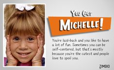 Which Tanner Sister from 'Full House' Are You? I got Michelle! Full House Quizzes, Full House Characters, Full House Memes, Dance Moms Quizzes, Quizzes For Fun, Full House Cast, Full House Tv Show, Full House Michelle, Stephanie Tanner
