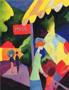 Fashion window - August Macke. Style: Fauvism. watercolor