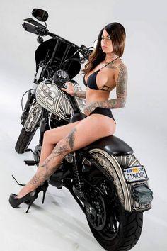 tit biker chicks blonde Big