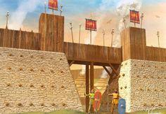 Fortificación celta, por Christos Giannopoulos. Más en www.elgrancapitan.org/foro