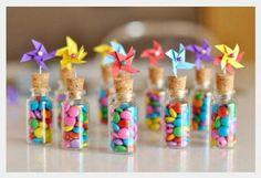 Cataventos - frascos de vidro com cortiça
