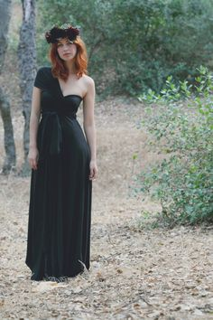Black Coral Long Octopus Wrap Gown Dress by CoralieBeatrix on Etsy possibly for Katlyns Wedding!!! :)