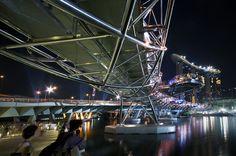 Helix Bridge from below