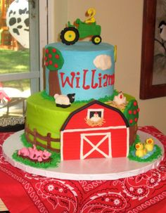 Farm birthday cake ideas