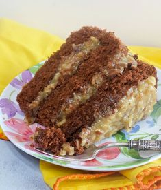 This is an Authentic German's Chocolate Cake and I love it. It's a very moist and mild chocolate cake made with German's sweet chocolate and the pecan-coconut frosting is to-die-for. Grab the recipe over at My Country German Chocolate Cake Frosting, Homemade German Chocolate Cake, Chocolate Recipes, Best German Chocolate Cake Recipe Ever, Chocolate Chocolate, Cakes To Make, How To Make Cake, Frosting Recipes, Cake Recipes