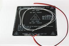 Pièces de l'imprimante 3D RepRap PCB MK3 heatbed + LED + résistance + câble + 100 K ohm thermistances aluminium lit chauffé diamètre comme MK2B dans Circuits intégrés de Fournitures et composants électroniques sur AliExpress.com | Alibaba Group