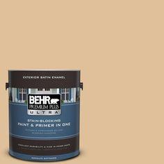 BEHR Premium Plus Ultra 1-gal. #300E-3 Clair De Lune Satin Enamel Exterior Paint