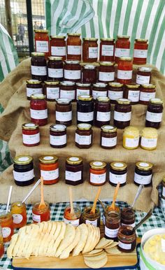 Homemade small batch marmalades, chutneys and jams sold by Country Market Stall at Headingley Farmers Market, Leeds
