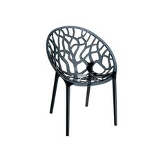 Mercury Row Metrocles Stacking Patio Dining Chair (Set of Finish: Transparent Black