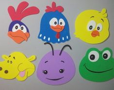 apliques-eva-turma-da-galinha-pintadinha-galo-carijo Recycle Cans, Recycling, Apps For Teachers, Pencil Toppers, Bottle Crafts, 2nd Birthday, Tweety, Diy And Crafts, Projects