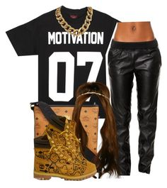 """""""."""" by trillest-queen ❤ liked on Polyvore featuring мода, BLANKNYC, MCM и Timberland"""