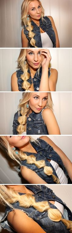 Topsy tail // Cute and easy hair style.