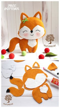 DIY Cute Felt Fox Toy Free Sewing Pattern – Peluches – added to our site quickly. I share very enjoyable designs and ideas about DIY Cute Felt Fox Toy Free Sewing Pattern – Peluches – . Kids Crafts, Felt Crafts Diy, Fabric Crafts, Fabric Art, Felt Fabric, Decor Crafts, Fabric Toys, Baby Fabric, Fabric Sewing