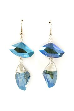 Sliced Sapphire Crystal Riley Earrings