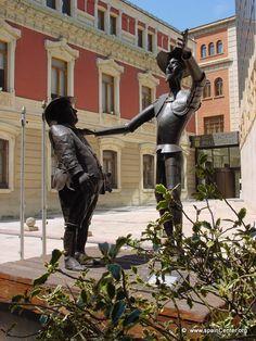 Don Quijote y Sancho en Albacete