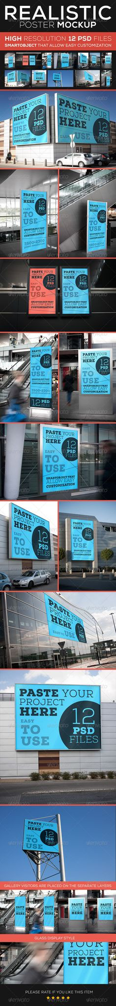 Poster Mock-Up #GraphicRiver ITEM DETAILS 12 realistic Poster Mock Up Photoshop CS2+ compatible 3500×2300 pixel resolution Easy and fast editing with smart objects Organizaed Layers and