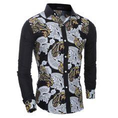 >> Click to Buy << Brand men's shirt retro color shirt Slim Chemise Homme men's shirts and benevolence Hemden Camisa Masculina XXL #Affiliate