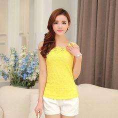 Women Vest Blouse Tank Top Sleeveless T Shirt Solid color Lace Floral Plus Size Sexy tops Casual Vest tops women's tanks F006
