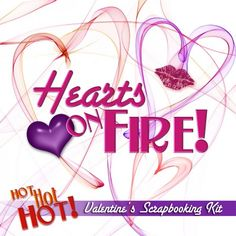 Heat up your scrapbook with this flame inspired-pack sure to make all your Valentine's Day memories HOT!